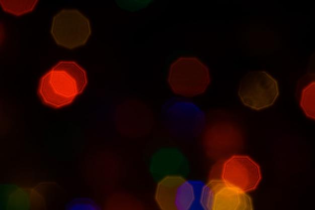 カラフルな抽象的なボケライトの背景。祭りシーズンのボケ背景。