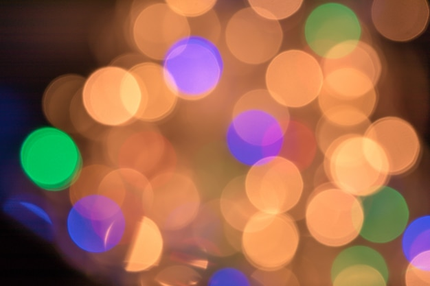 Colorful abstract bokeh lights  background.