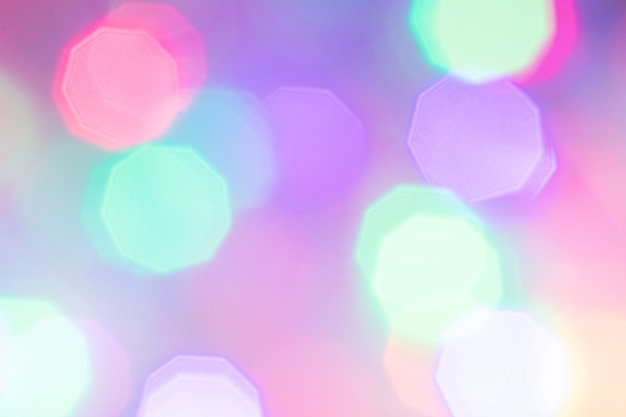 Colorful abstract bokeh lights background