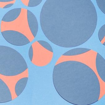カラフルな抽象的な幾何学的形状の紙の背景