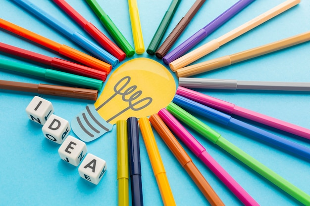다채로운 추상적 인 혁신 구성
