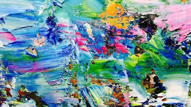 キャンバスにカラフルな抽象的な油絵