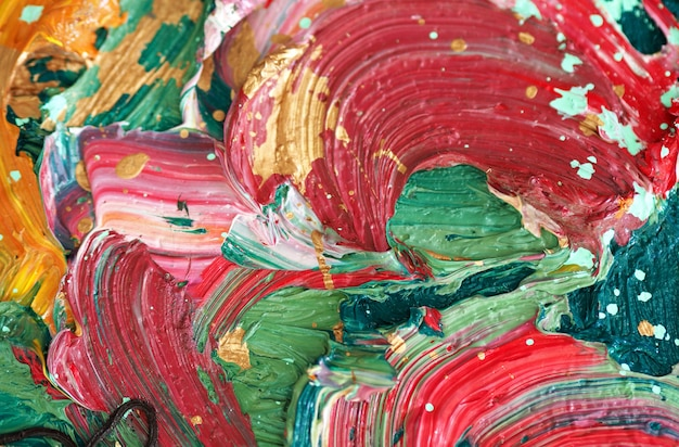 Colorful abstract oil painting