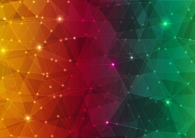 Красочный абстрактный многоугольник