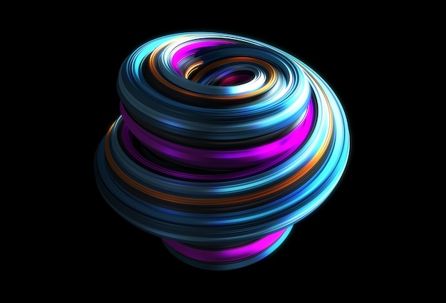 Красочная абстрактная форма