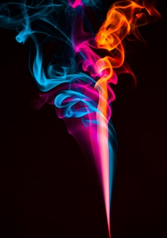 Colorful abstract smoke effect