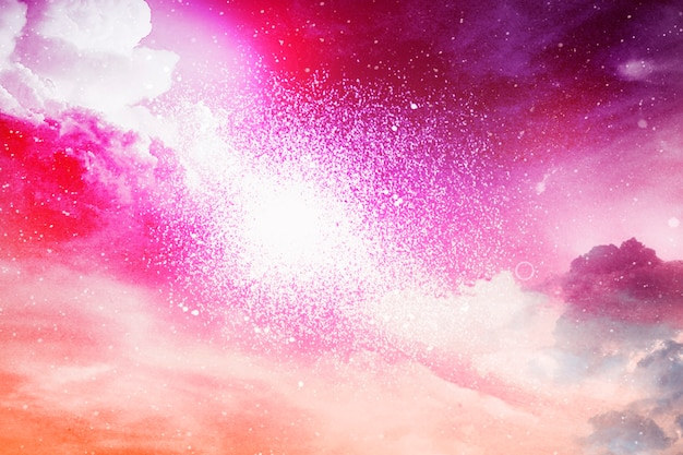 Colorful abstract universe textured background