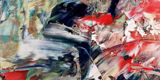 Красочные абстрактные обои. современный мотив визуального искусства. смеси масляной краски. модная ручная роспись холста. настенный декор и настенные репродукции идея. texture.colorful аннотация