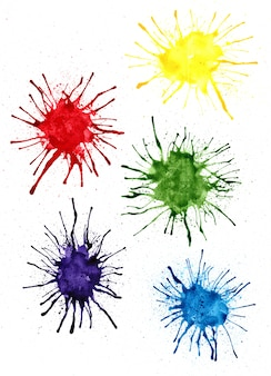 Colorful abstract watercolor painting