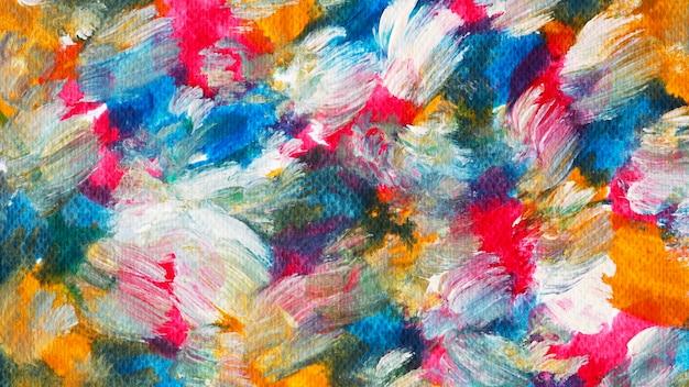 Красочный акриловый фон мазка кистью