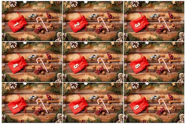 Красочный календарь появления с номерами на