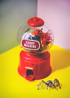 Colorful and bright candy machine