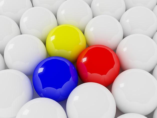 Разноцветные и белые шары