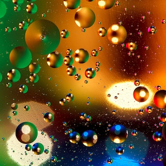Colorful artificial background with bubbles.