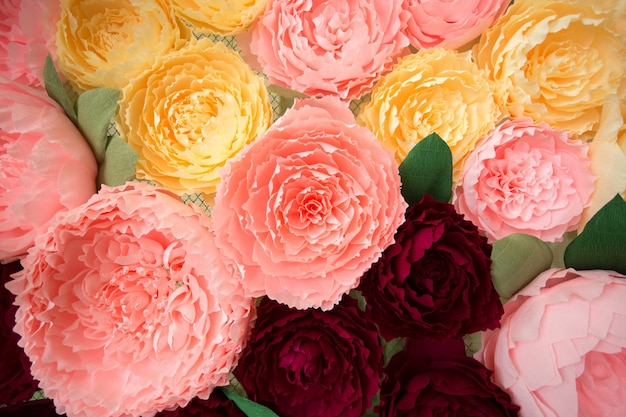 Colorful of artificial flower decoration