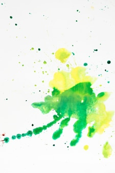 Colorful artistic stains of watercolor splashes