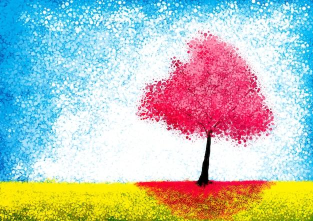 Красочные осенние деревья