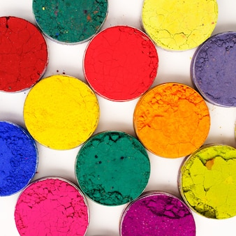 Colorful background. indian holi festival colours on white