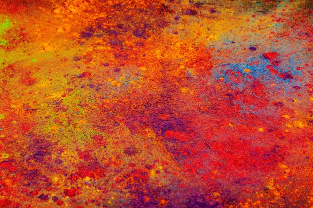 Colorful background made of indian colorful dyes