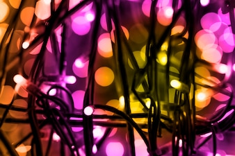 お祝いライト装飾のカラフルな背景