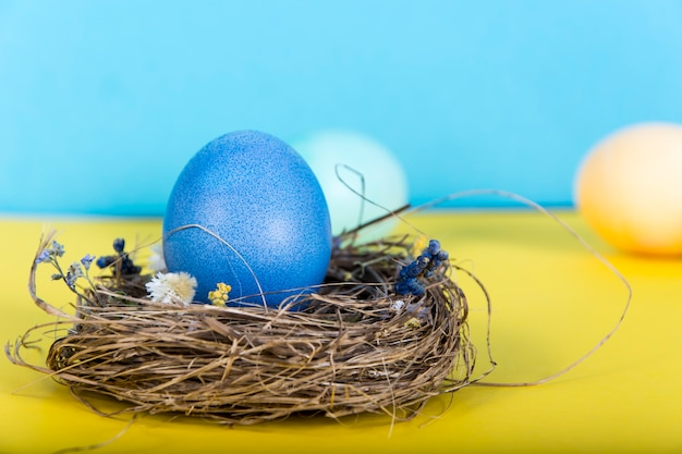 Colorful background with easter eggs background.