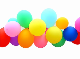 Colorful Balloon isolated on white background
