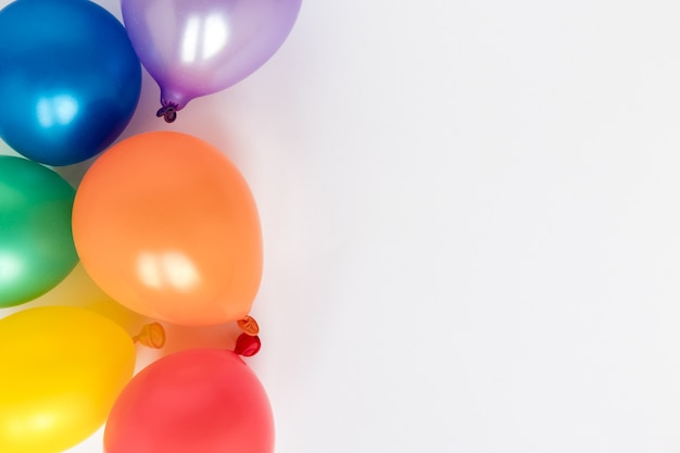 Colorful balloons with copy-space
