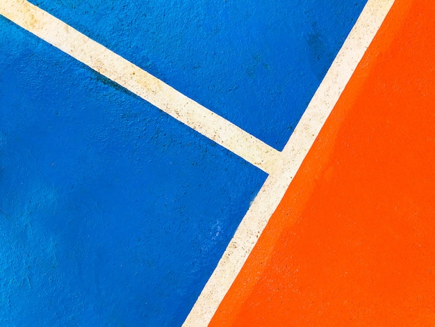 Colorful basketball court floor