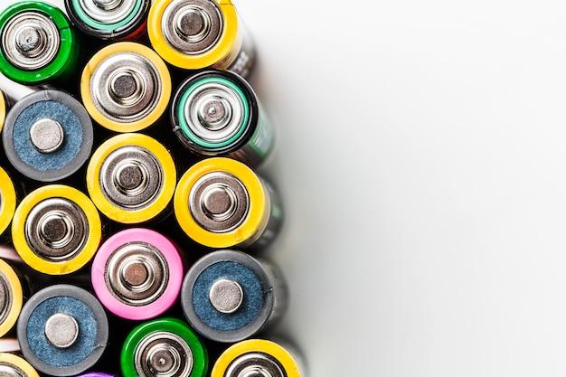 カラフルなバッテリー