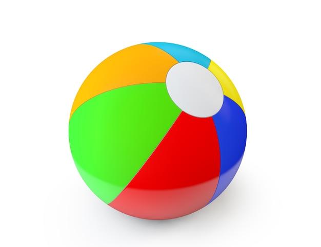 Красочный пляжный мяч на белом фоне