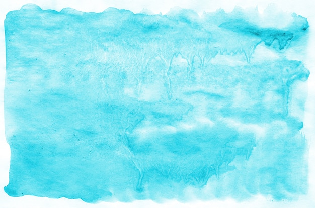 Colorful blue watercolor wet brush paint liquid background for wallpaper, card. aquarelle bright color abstract hand drawn paper texture backdrop vivid element for web, print