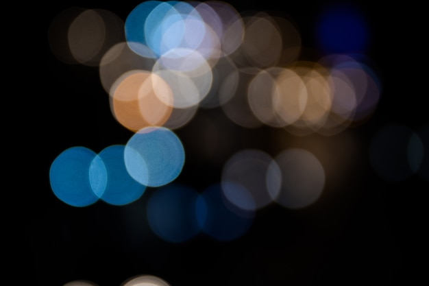 Colorful bokeh abstract of the car light on the street
