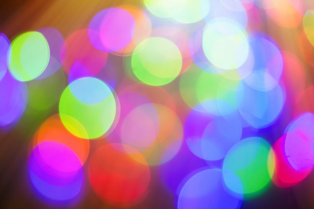 Colorful bokeh background for greeting or christmas card