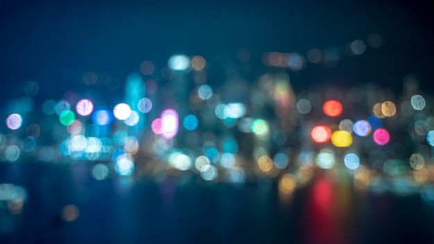 Colorful bokeh blurred background