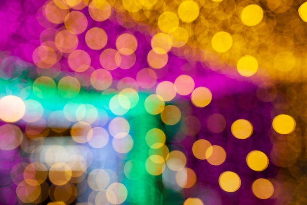 Colorful bokeh light abstract background, blurred blur, darkness concept