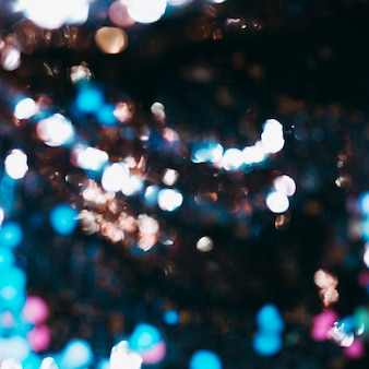 Colorful bokeh light in background