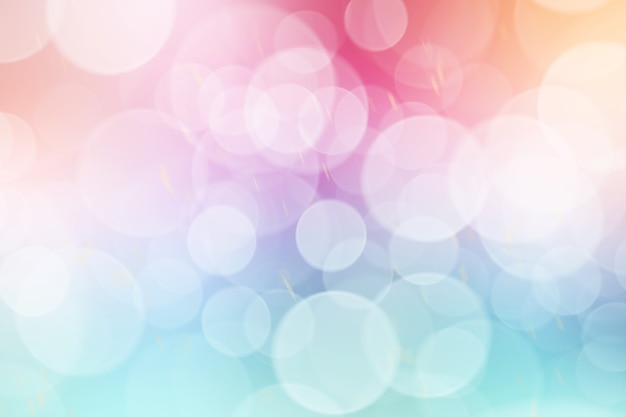 Colorful bokeh lights abstract background