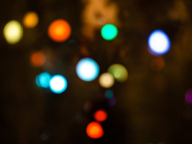 Colorful bokeh. unfocused abstract colourful bokeh on black background