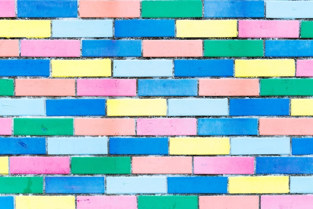 カラフルなレンガの壁の背景