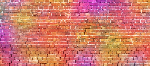 Colorful brickwork texture.