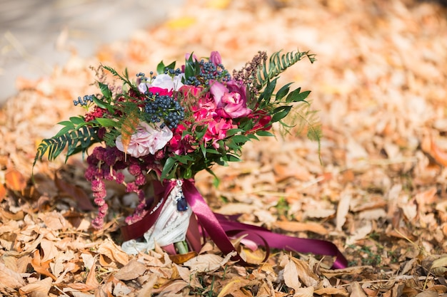 Premium Photo | Colorful bridal beautiful bouquet of