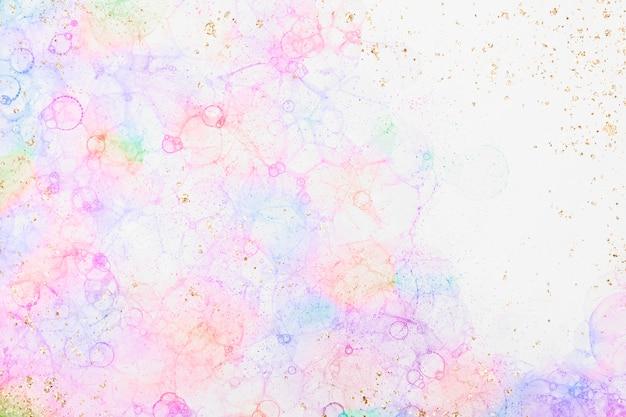 다채로운 버블 아트 핑크 배경 여성 스타일