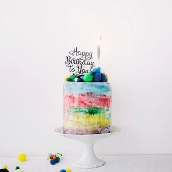 쓰기와 폭죽과 화려한 케이크