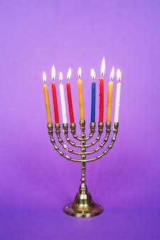 Colorful candels, hanukkah