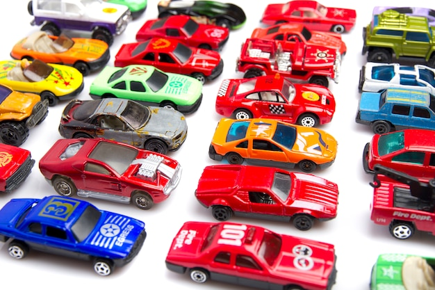 Colorful car toys