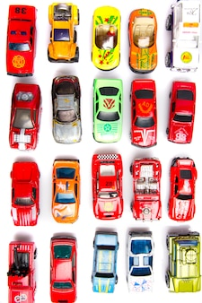 Colorful cars toys