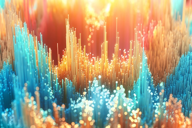 Colorful cg abstract background.