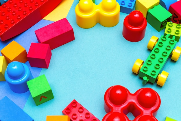 Colorful child kids education toys pattern
