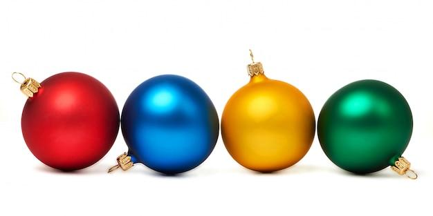 Colorful christmas balls isolated