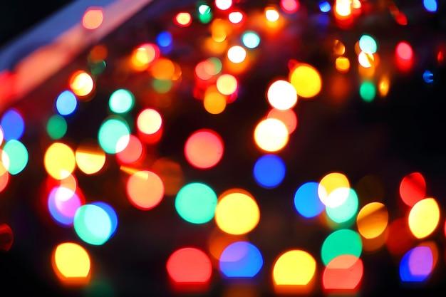 Красочный рождественский боке фон